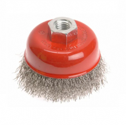Faithfull FAIWBC100S Crimped Stainless Steel Wire Cup Brush 100mm M14x2